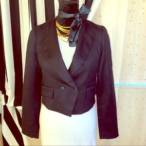 Marc by Marc Jacobs wool jacket with a silk bow